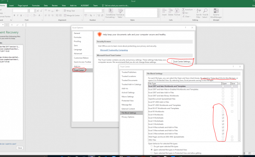 "Excel – ""PROTECTED VIEW"" editing this file is not allowed due to your policy settings…………."