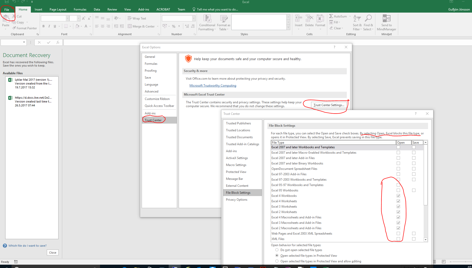 """Excel – """"PROTECTED VIEW"""" editing this file is not allowed due to your policy settings…………."""